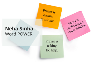 Intention-Setting: Prayers on post-it notes